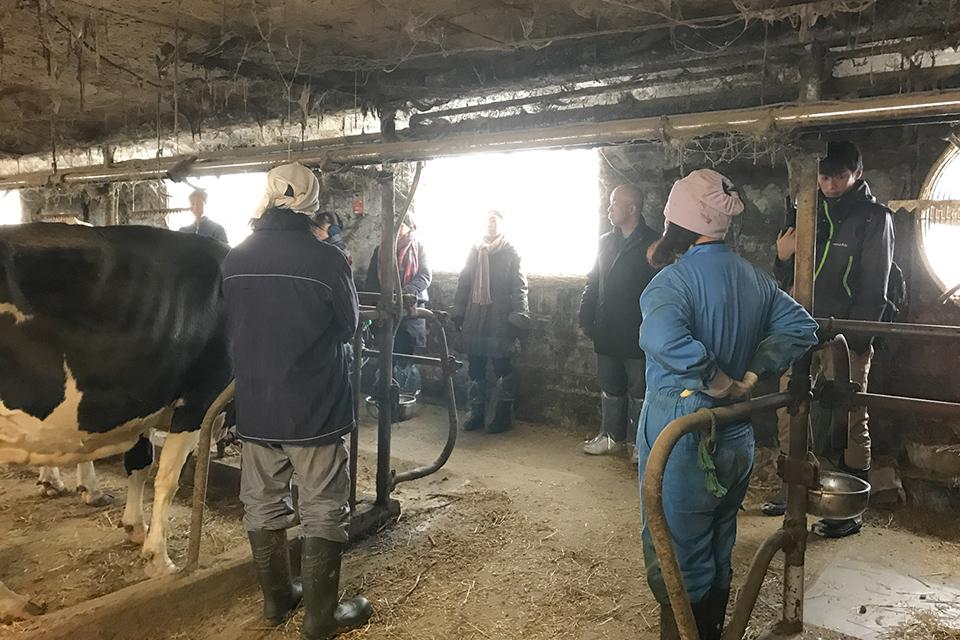 夫婦で新規就農した酪農家を見学